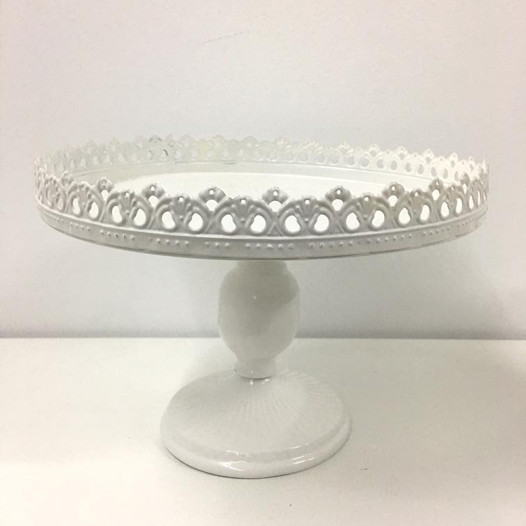 White Cake Stand Round
