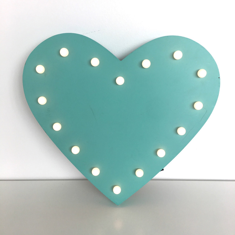Turquoise Heart Deco Lights