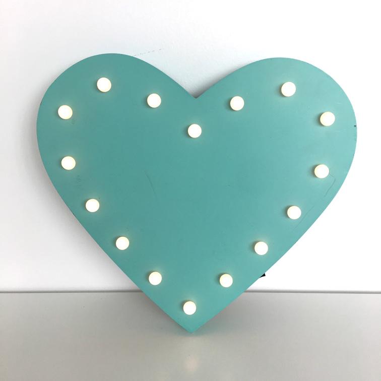Turquoise Heart Deco Lights
