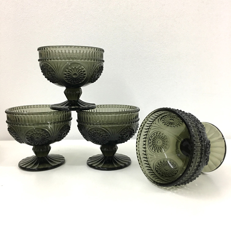 Baroque Black Dessert Cups