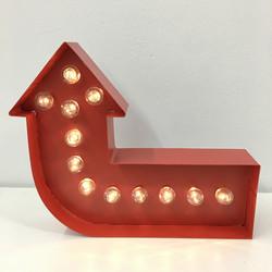 Red Arrow Deco Lights