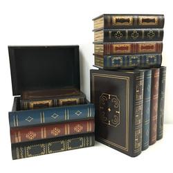 Antique Book Wooden Chest
