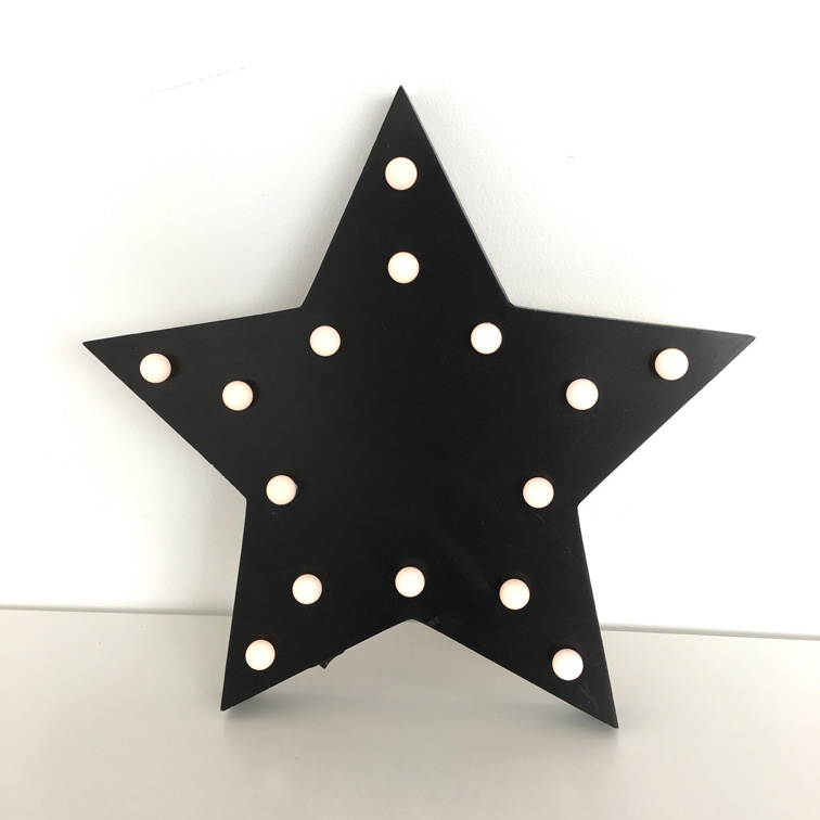 Black Star Deco Lights
