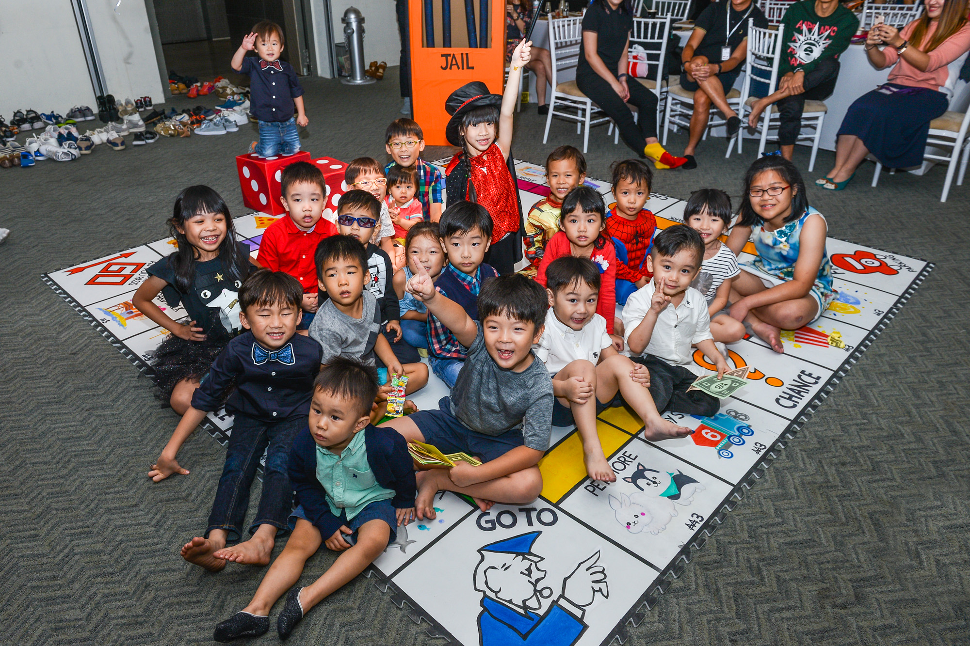 Kids on Game Board