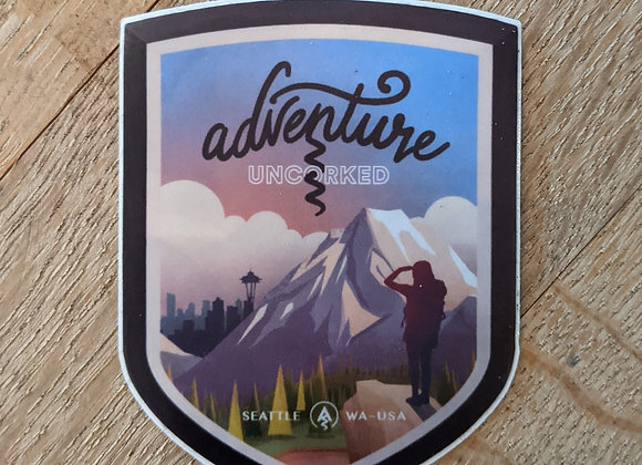 Adventure Uncorked Sticker
