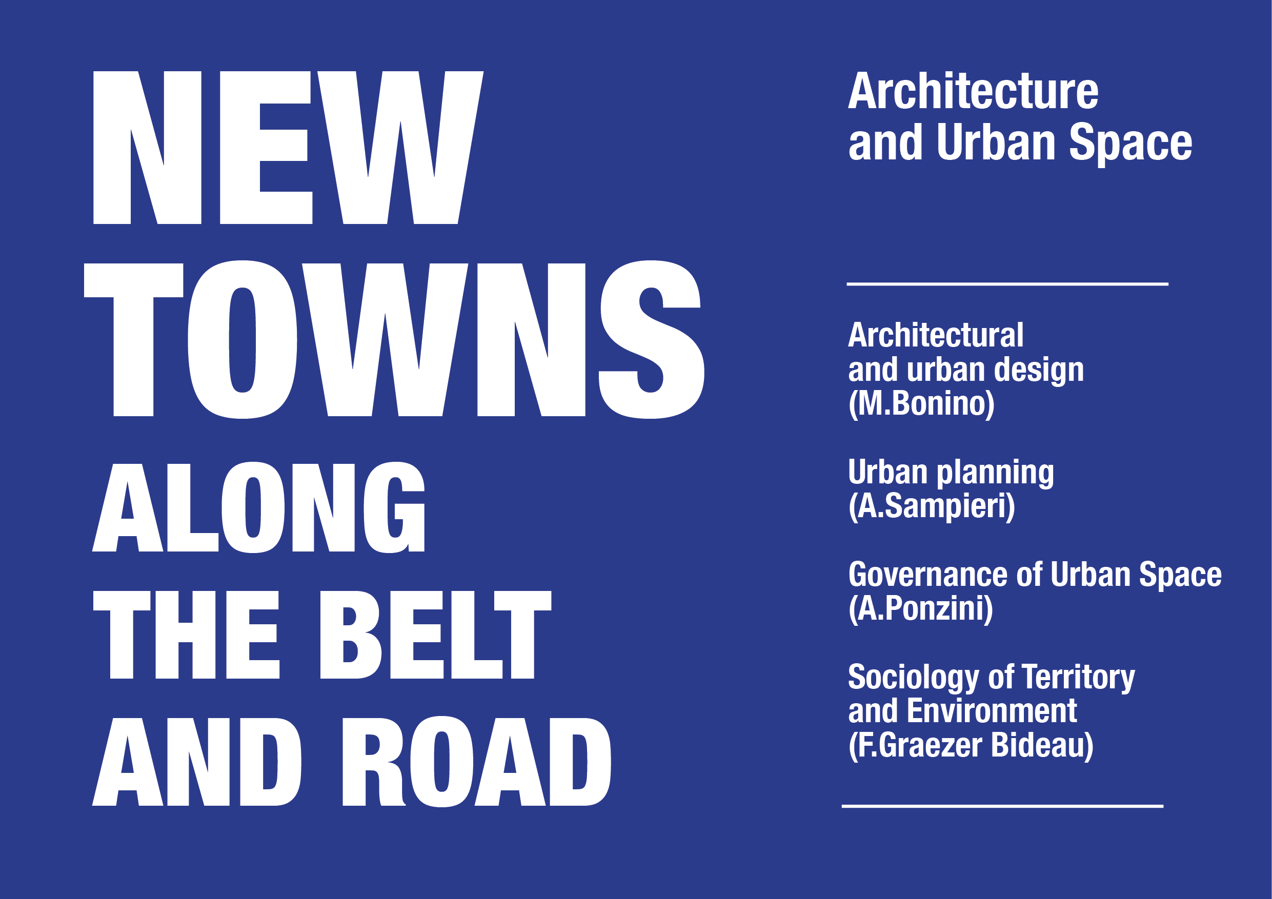 New Towns along the Belt and Road