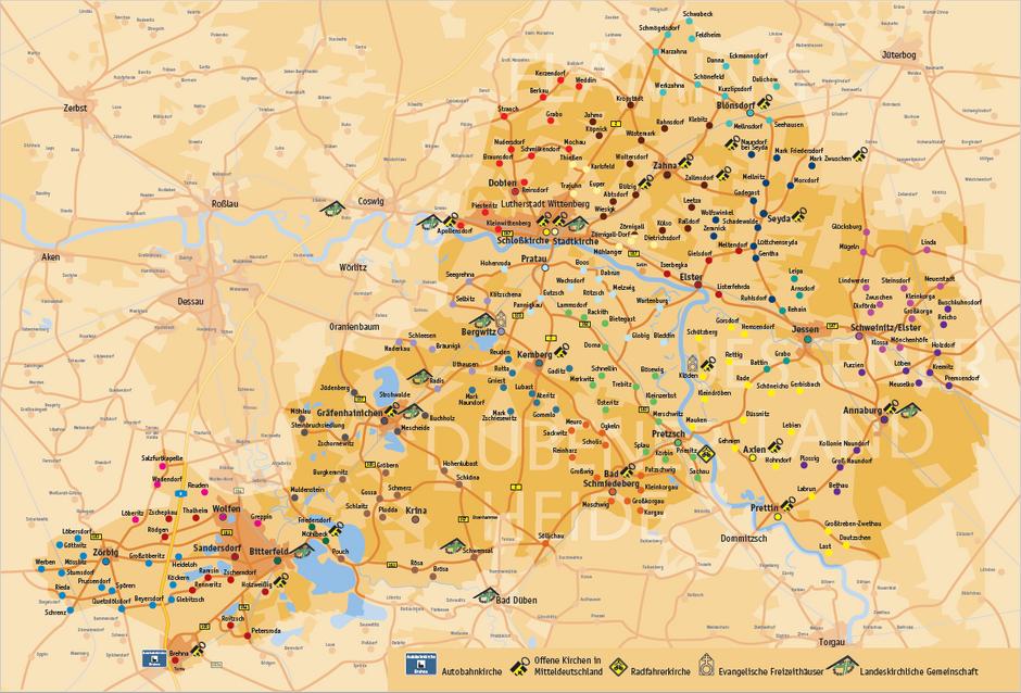 Karte - Kirchenkreis Wittenberg