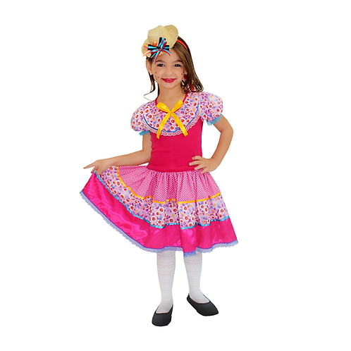 Caipira Vestido Filomena Infantil
