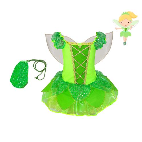 Fantasia Fadinha Verde Luxo Infantil