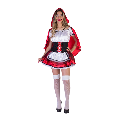 Fantasia Chapeuzinho Vermelho - Vestido Adulto