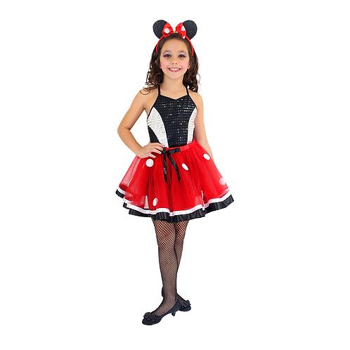Fantasia Ratinha Vermelha Glamour Infantil