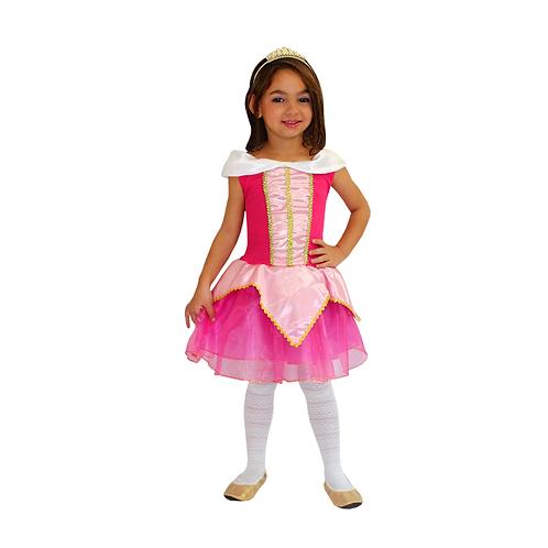 Fantasia Princesa Rosa Infantil