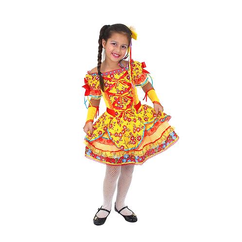 Caipira Vestido Bella Infantil