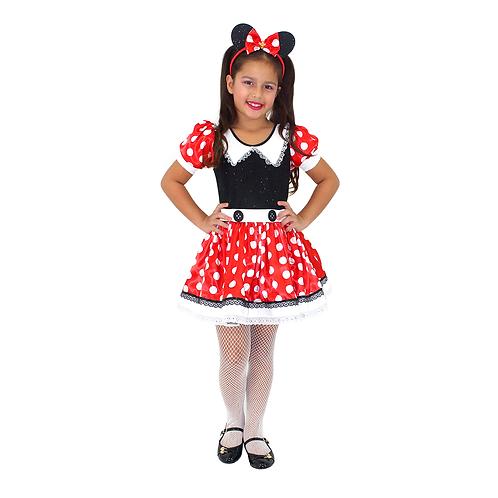 Fantasia Ratinha Vermelha Luxo Infantil
