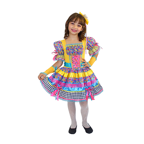 Caipira Vestido Angelina Infantil