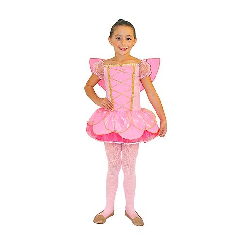 Fantasia Fadinha Rosa Luxo Infantil