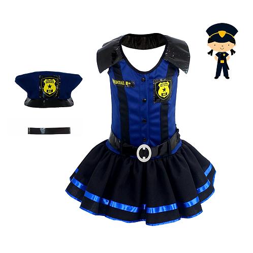 Fantasia Policial Feminino Luxo - Vestido Infantil