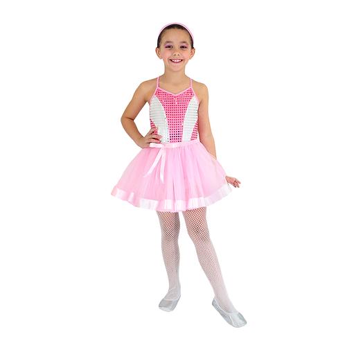 Fantasia Bailarina Glamour Infantil