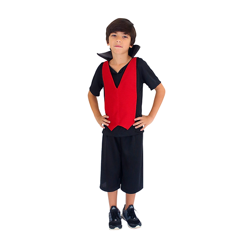 Fantasia Halloween Vampiro Edward Infantil