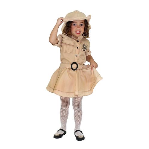 Fantasia Safari Caçador Feminino Infantil