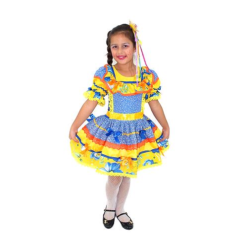 Caipira Vestido Duquesa Infantil