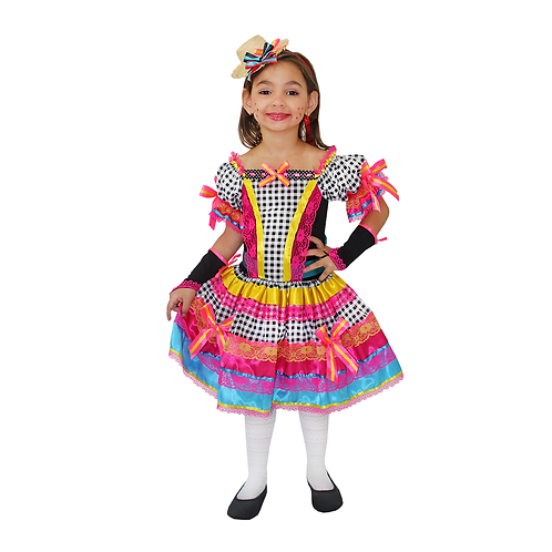 Caipira Vestido Candy Infantil