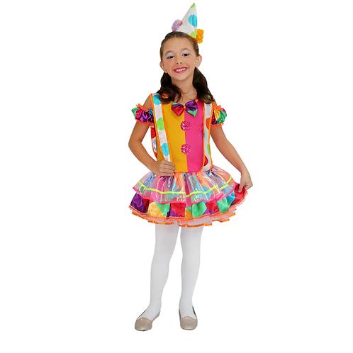 Fantasia Palhacinha - Vestido Palhaça Infantil