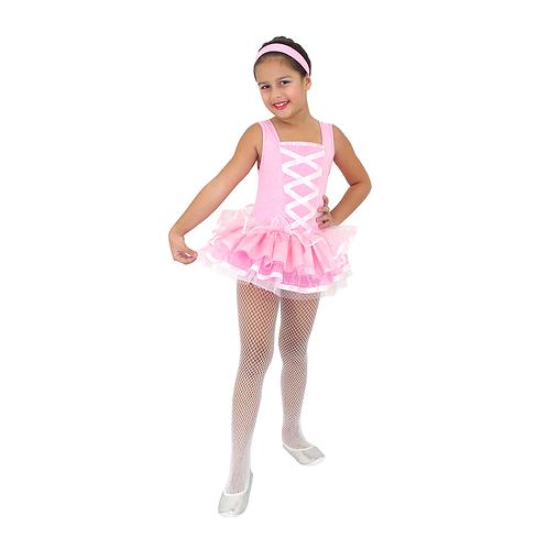 Fantasia Bailarina Rosa Infantil