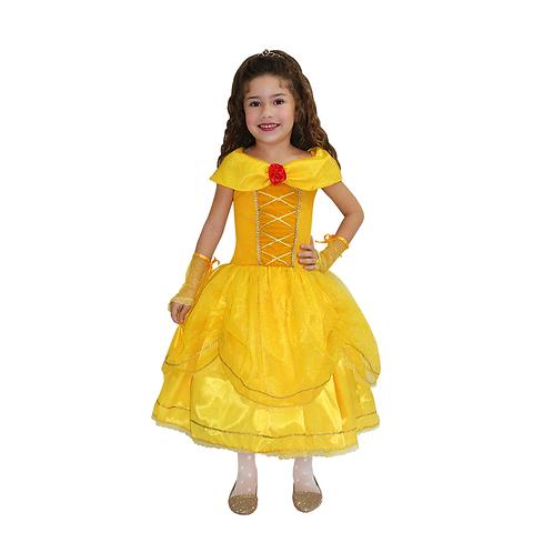 Fantasia Princesa Ouro Infantil - Diamante