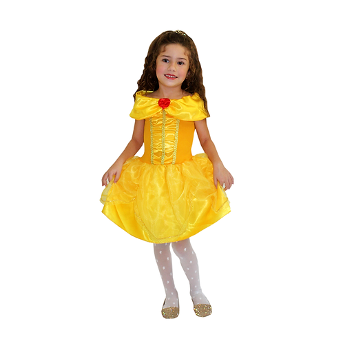 Fantasia Princesa Ouro Infantil