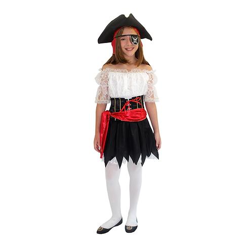 Fantasia Pirata Infantil Feminino Luxo