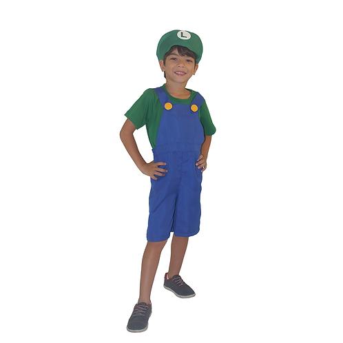 Fantasia Bombeiro Verde infantil