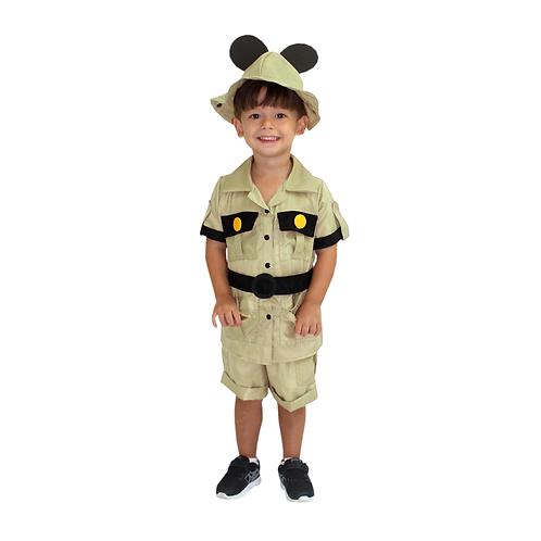 Fantasia Ratinho Safari Infantil