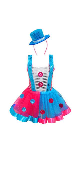 Fantasia Palhaça Glamour Infantil