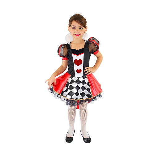 Fantasia Dama De Copas - Rainha De Copas - Halloween Infantil