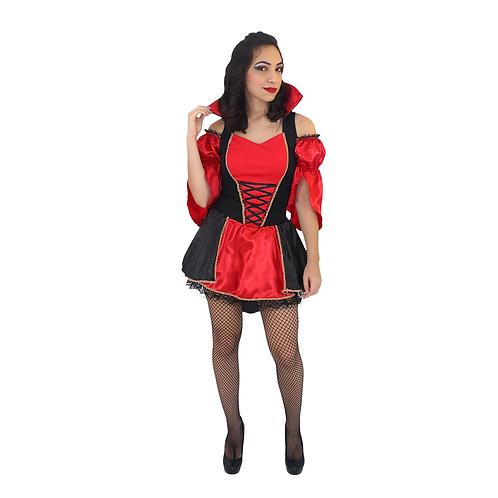 Fantasia Vampira Elvira Adulto - Pronta Entrega