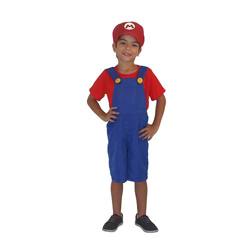 Fantasia Bombeiro Vermelho Infantil