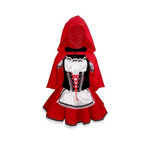 Fantasia Garota da Capa Vermelha - Vestido Infantil