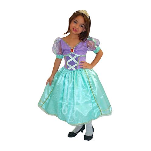 Fantasia Princesa Sereia Infantil - Deluxe