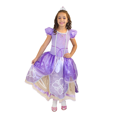 Fantasia Princesa Lilas Infantil