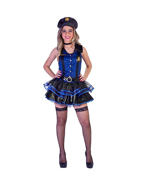 Fantasia Policial Feminino Adulto - Luxo