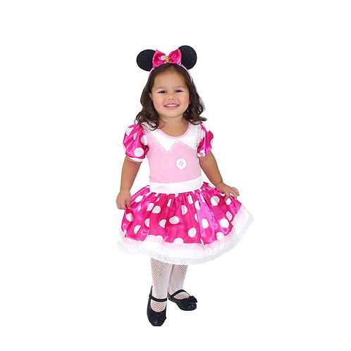 Fantasia Ratinha Rosa Luxo Infantil