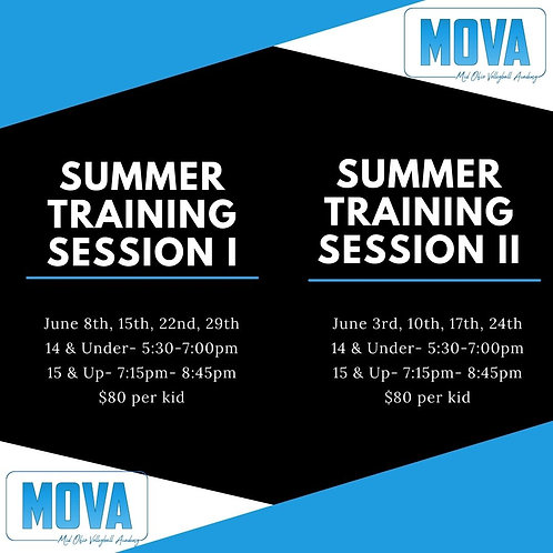 Summer Training Session II 15 & Up