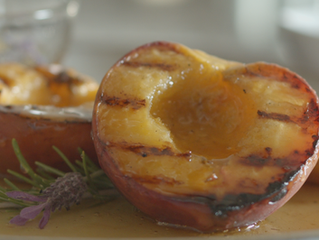 Grilled Peaches with Rosemary Lavender Honey