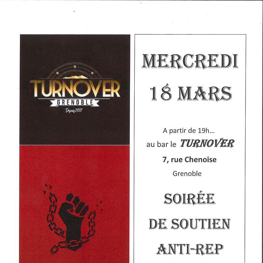"""Soirée collecte de fonds du CAR38 au bar """"le Turnover"""""""