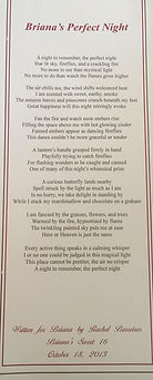 A client's table card with my poem