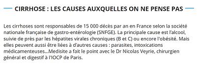 causes de cirrhoses rares Dr.Veyrie IOCP Paris
