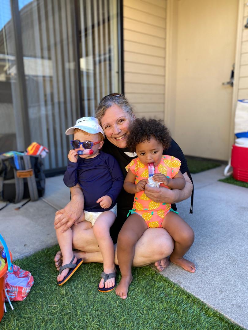 Tristan, Millie, and Nani (Grandma)