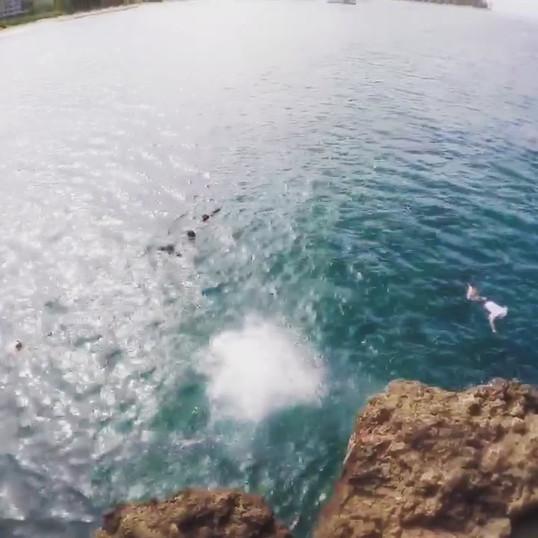Jumping off Black Rock