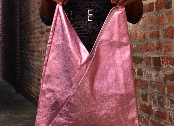Italian Metallic Hobo Bag